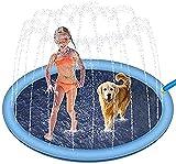 Splash Spruzzatore per Cani e Bambini, Vasca da Bagno per Cani e Bambini, addensata e Resistente, per Animali Domestici, per l'Estate, per l'Acqua (170cm)