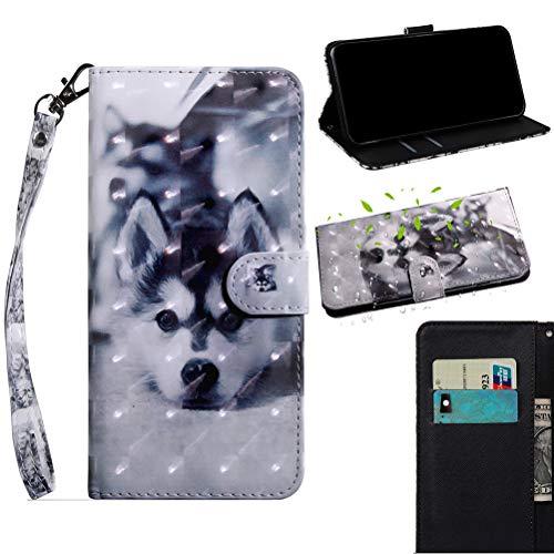Jieheng Hülle für Sony Xperia L1 Handy Hülle, Premium 3D Bunte Muster PU Leder Handy Schutzhülle Tasche Wallet Tasche Flip Etui Schale Mit Kartenfach Magnetverschluss Standfunktion für Sony Xperia L1