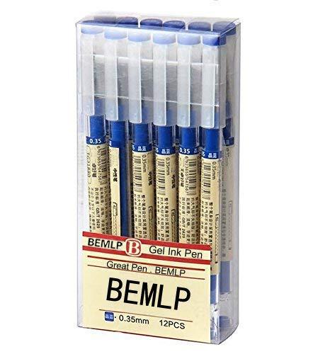 Bolígrafo de tinta de bolígrafo de Gel, 0,35mm), color negro azul eléctrica bolígrafo Escuela Oficina Estudiante Examen escritura papelería suministro 12pcs/Set