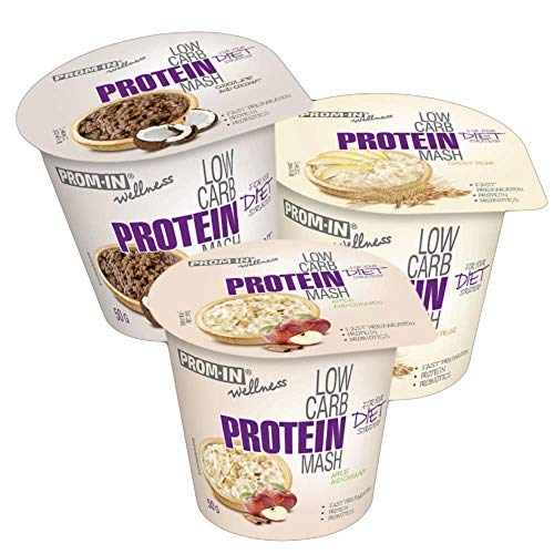 Low carb Protein Instant mash Ready to eat by PROM-IN for Your Diet Strategy (50 g) (Pear)