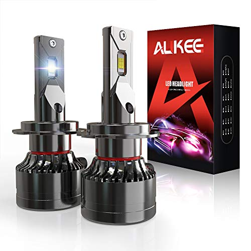 H7 LED Headlight Bulb, Aukee 110W High Power 18,000LM Extremely Bright 6000K Cool White CSP Chips Conversion Kit Adjustable Beam