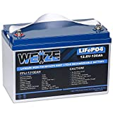 Weize 12V 100AH LiFePO4 Deep Cycle Lithium Battery, Up to 7000 Life Cycles, Built in BMS, Perfect for RV, Marine, Overland and Off-Grid Solar System