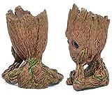 TPK Baby Groot Blumentopf Figur – Übertopf Groß Aquarium Deko Figur Holz Aschenbecher Stiftehalter – Innen - 5