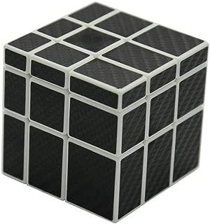 I-xun Smooth 3x3x3 Unequal Magic Cube, Carbon Fiber Sticker 3x3 Mirror Puzzle Cube (White)