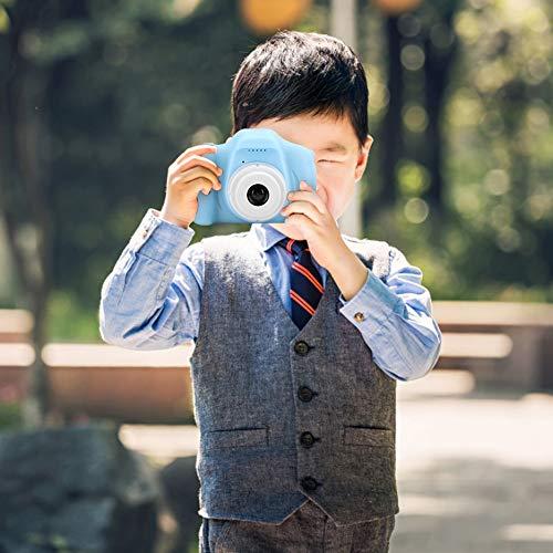 Surebuy Mini cámara para niños La cámara admite la Toma de Fotos, la grabación de Videos y Las Fotos de Bricolaje(Blue, Pisa Leaning Tower Type)