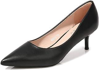 [シュウアン] ハイヒール パンプス 新しいパンプス 浅い口のパンプス 古典パンプス パターンパンプス マルチカラーパンプス レザーパンプス スティレットハイヒール 靴の女性パンプス パンプスサープシャンク