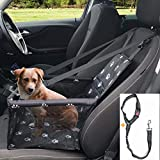 GoBuyer Waterproof Dog Car Seat Booster Car Booster Seat for Dogs + Free Strap