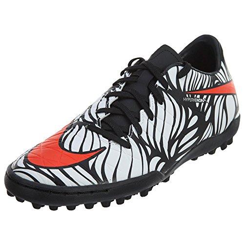 Nike Men's Hypervenom Phelon II NJR Turf Black/Bright Crimson/White Shoes