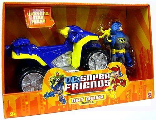 DC Super Friends Action Figure Vehicle Batman with Dirt Driver by Mattel
