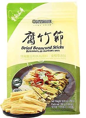 ONTRUE Dried Beancurd Sticks, Asian Tofu Yuba, Good Source Of Protein, Non-GMO, Vegan, Great Gourmet Gift, 9.88 Oz
