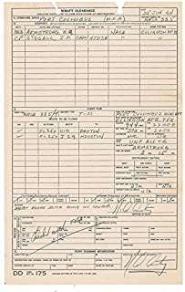 Neil Armstrong - Document Double Signed 06/25/1964