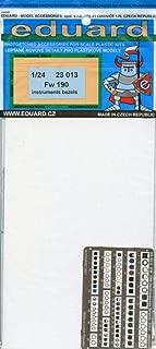 Eduard 1:24 Fw-190 Instruments Bezels Color PE Detail Set #23013