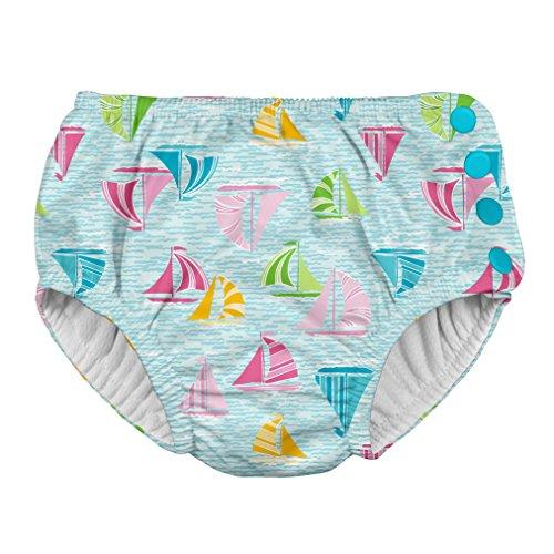 i play. 701050-6301-44 Schwimmwindel Aqua Sailboat 12-18 Monate, blau