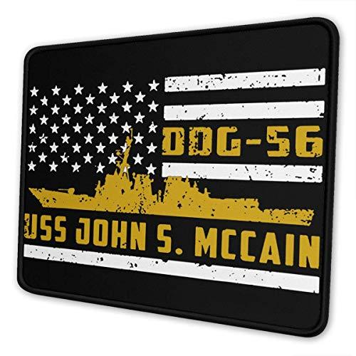 Mau Mat,Ddg-56 Uss-John S. Mccain-Mauspads, Genähte Gaming-Mausmatte Für Home-Office-Dekor,25cmx30cm