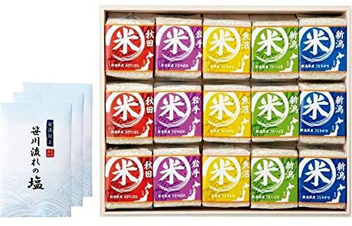 初代 田蔵 高級木箱入り 贅沢銘柄食べくらべ満腹リッチギフトセット お米 塩 NNIA-150US