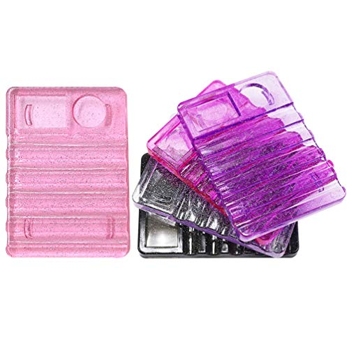 SOLUSTRE 5 Pcs Acrylique Porte-Stylo Brosse Présentoir Maquillage Nail Brosse Rack Organisateur Pour Stylo Plume Salon De Maison Manucure Fournitures