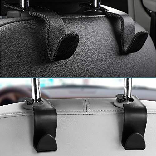 AIFUDA 4 ganchos para reposacabezas de asiento de coche, organizador de almacenamiento Uiversal para bolso, bolsa de comestibles, bolso de mano, botella de agua