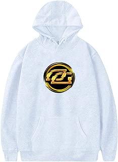 NNaseg Mens Hoodies O-ptic Gaming Logo Pullover Pocket Coat Velvet Sweatshirt with Pocket