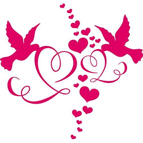 ThatVinylPlace - Adesivo in vinile per la cameretta dei bambini, motivo: colombe d'amore (60 cm x 60 cm) Blush