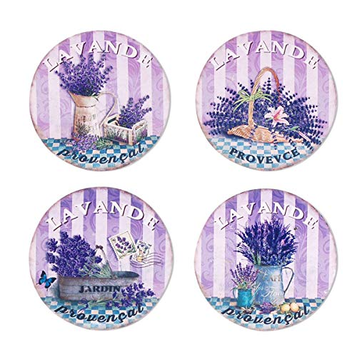 Decor and Go Sottobicchieri Lavanda con set di 4 sottobicchieri da cucina, collezione lavanda e olivo DG12353