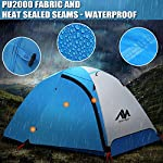2 Person Backpacking Tent and Camping Tents, AYAMAYA Ultralight Waterproof Double Layer Easy Setup 2 Doors Lightweight 2 Man People Backpack Tent for Couples Hiking Fishing Motorcycle Bikepacking 113