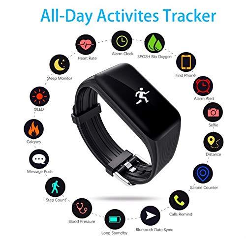 Pennymoga Smart Bracelet Bluetooth Smart Watch Waterproof K1 Heart Rate Wrist Watch