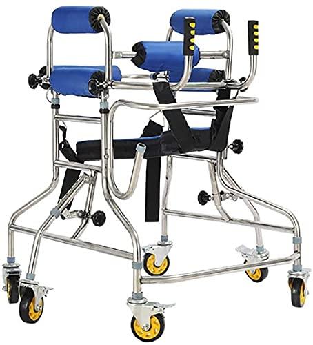 SJZLMB Andadores para Ancianos Walker con 6 Ruedas 360 ° Roller Rotating Roller y Armpit Soporte Armada Movilidad Permanente Movilidad Caminar AUDIENDO AUTERSION Ajustable