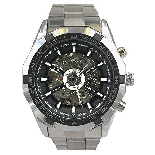ESS WM257 - Orologio da polso da uomo, cinturino in acciaio inox