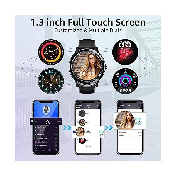 Smartwatch,Reloj Inteligente con Pulsómetro,Calorías,Cronómetros,Monitor de Sueño,Podómetro Pulsera Actividad… 3