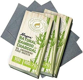 (3 PK) Oil Blotting Sheets- Natural Bamboo Charcoal Oil Absorbing Tissues- 300 Pcs Organic Blotting Paper- Beauty Blotters...