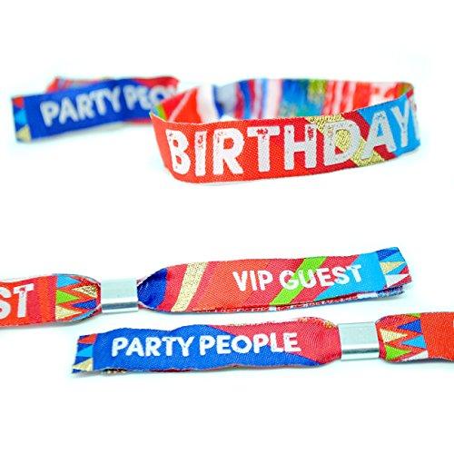 BIRTHDAYFEST Festival-Armbänder für Geburtstagsfeiern, Accessoires für Geburstagsfeiern, Birthday Party Wristbands