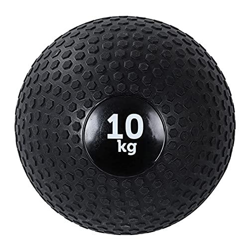 PLUY Balón Medicinal de Fitness Slam Ball,Cross Training Core Training Lanzamiento de Entrenamiento Balance Ball,Texturizado Negro Low-Stretch Fitness Ball (Tamaño:7 kg/15,4 l