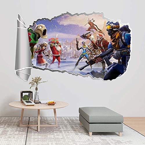 YEARGER 34cm x 57cm 3D Wandaufkleber PVC Selbstklebend Kampfspiel Wandaufkleber Wandkunst Aufkleber Wohnkultur