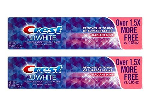 2x CREST 3D White Radiant Mint für strahlende Zähne Zahnpasta mit Fluoride 70g USA