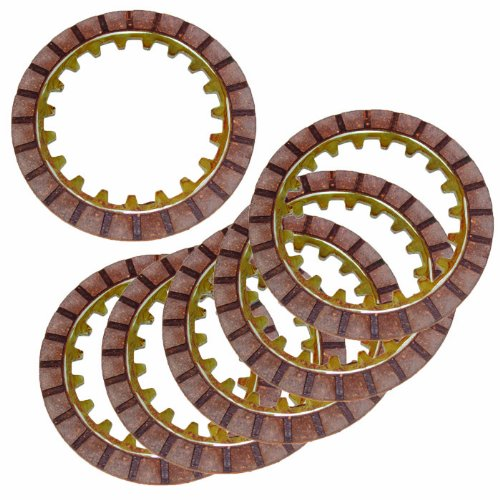 Caltric Clutch Friction Plate compatible with Yamaha Y-Zinger 80 Pw80 Pw-80 1983 1985-2006 6 Plates