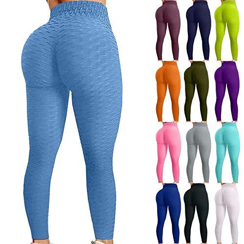 Orderking Workout Leggings Damen Push Up Tight Scrunch Butt Sporthose Blickdicht Fitnessleggings mit Hohe Taille kompressionsleggings für Yoga Jogging Sport Workout Freizeit (XL, 3-Weiß)