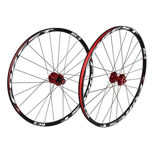 LBBL Ruedas Bicicleta, 27.5 Pulgadas Wheels Freno Disco 8 9 10 11 Velocidad Rueda Aro Aluminio Liberación Rápida 29 Pulgadas Ligera Y Resistente A La Torsión (Color : C, Size : 26inch)