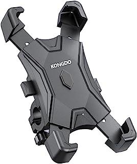 KONGDO 自転車 スマホホルダー バイク 携帯スタンド 自転車 すまほほるだー スマートフォンホルダー 防振 脱落防止 角度調整 360度回転 ロードバイク クロス バイク スマホ固定用 4.7-6.5インチ 多機種対応