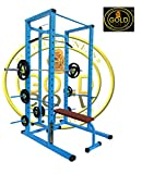 GOLD FITNESS Power Squat Rack CAGE with LAT/Pull Down Attachment and 700 KGS
