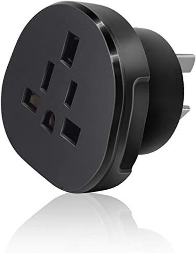 SAA Approved UK/US/JP/CA to AU/NZ Adaptor Plug with Insulated Pins, UK/US Plug Convert to 3-Pin Australian/New Zealan...