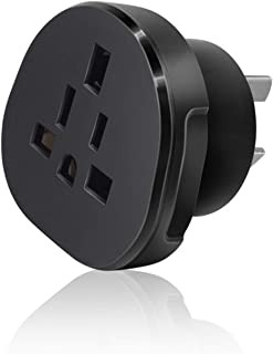 SAA Approved UK/US/JP/CA to AU/NZ Adaptor Plug with Insulated Pins, UK/US Plug Convert to 3-Pin Australian/New Zealand/Chi...