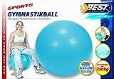 Best Sporting Gymnastikball 65-75-85 cm, blau oder rot, Farbe: blau, Größe:65 cm