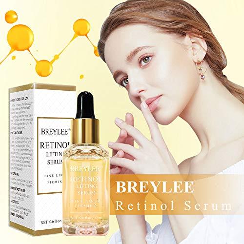 51zvz mBcoL - Retinol Serum, BREYLEE Anti Aging Anti Wrinkle Face Serum Vitamin A Retinol with Natural Ingredients for Skin Care Eye Care Fade Lines Acne Scars Dark Spots (17ml, 0.6 Fl Oz)