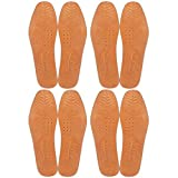 Magic Absorbent Ultra Thin Pigskin Leather Insoles for Stinky Feet-Foot and Shoe Odor Inserts for Women and Men's Shoes-Cinnamon Inserts and Flats for Sweaty Feet and Hyperhidrosis (4)