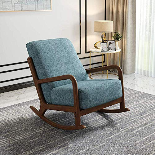 LLSS Solid Wood Chair Casual Lazy Rocking Chair Office Armchair Home Elderly Nap Lounge Chair With Pedal Combination Bearing Capacity: 200Kg