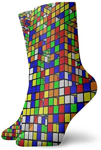 tyui7 Calcetines casuales coloridos geniales - Novedad Divertidos calcetines de vestir casuales Cráneos de nubes llameantes