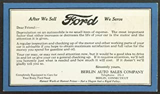 Berlin Auto Sales Ford advertising postcard 1927 CT