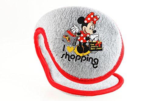 Disney Minnie Maus Mouse Ohrenschützer Ohrschützer Ohrenwärmer Ohrwärmer rosa rot grau weiss, Farbe:Grau
