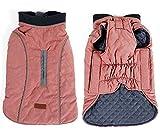 PENIVO 6 Couleurs vêtement pour Chien vêtements de Chien imperméable Hiver vêtements Chauds Manteaux réversibles pour Petit Moyen Grand Chien (L, Rose)