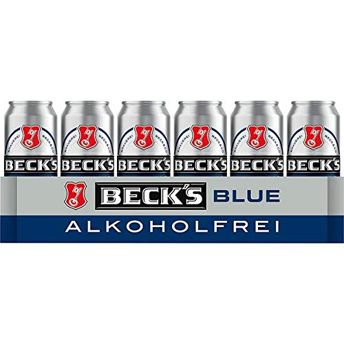 Beck's Blue Alkoholfrei, EINWEG (24 x 0,5l Dosen) inkl. 6,00 Euro DPG Pfand